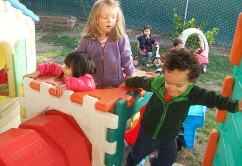 children at park