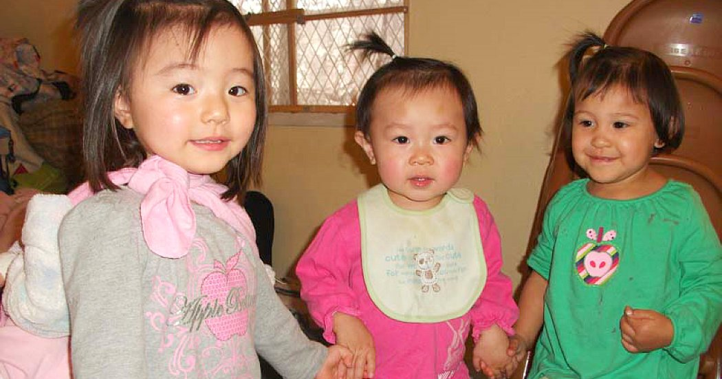 three little child