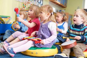 children with music instrument